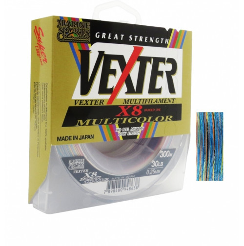 Linha Marine Sports Vexter Multicolor X8 300m